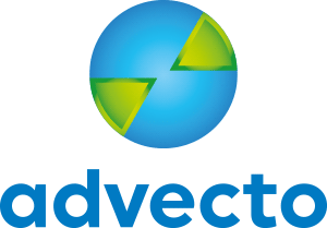 final logo for logo for international Advecto business partnering company, simple round Earth globe world with continent slices of europe and south america