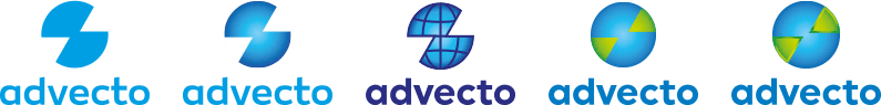 advecto logo design case study presenting revisions, modifications according to client suggestions